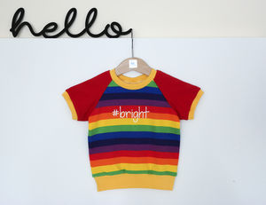 Unisex #Bright Rainbow T Shirt - gifts for babies