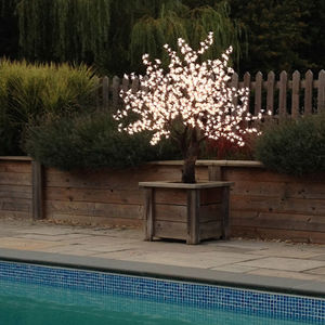 Small LED Cherry Tree - new in garden