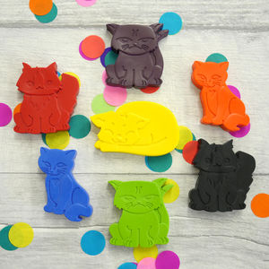 Set Of Seven Cat Crayons