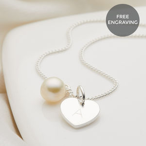 Personalised My First Pearl Necklace - christening gifts