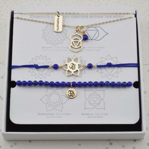 Third Eye Chakra Jewellery Set In Gold Or Silver