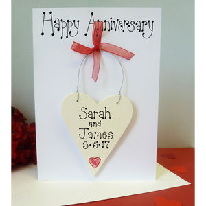 Personalised Anniversary Card - anniversary cards
