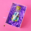 Valentine's Love Message In A Bottle
