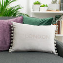 new home gift personalised velvet cushion