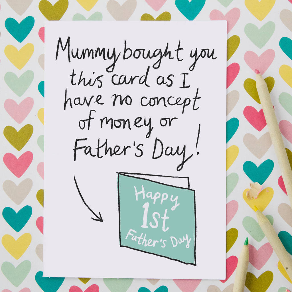 Funny First Father S Day Card By So Close Notonthehighstreet Com