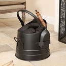 Personalised Black Coal Bucket With Shovel
