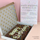 Personalised Birthday Letterbox Brownie Slab