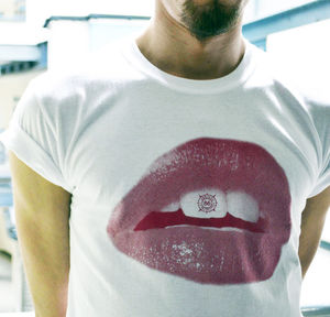 Lips T Shirt - men's fashion