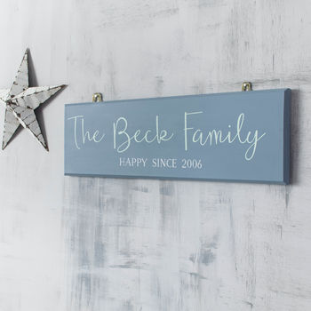 Personalised Family Sign