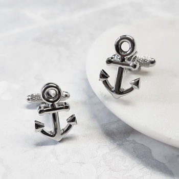 Anchor Cufflinks Nautical Sailing