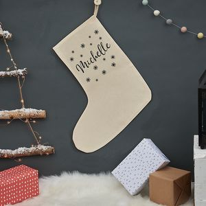 Personalised Christmas Snowflake Stocking - christmas sale
