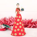 Red Fairy Tree Topper With Polka Dot Skirt