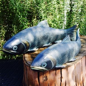 Set Of Two Koi Carp Garden Sculptures - shop by price