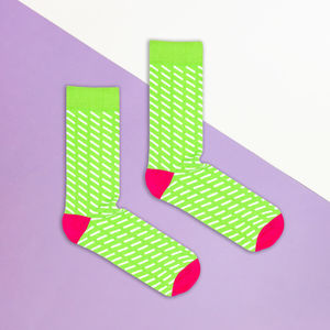 Green And White Sprinkle Sock - men's fashion