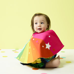 Personalised Baby Superhero Cape And Bonnet Set