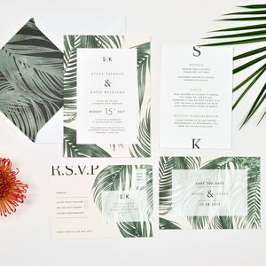 Tropical Wedding Invitation - invitations