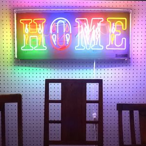 'Home' Typographic Neon Light Sign - home accessories