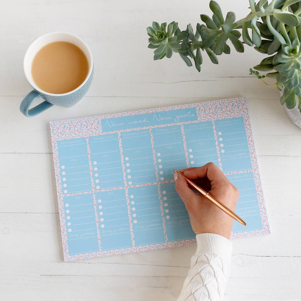 New Week New Goals To Do List Weekly Planner Desk Pad