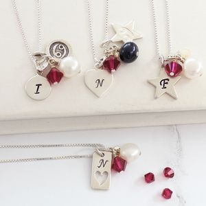 Personalised Birthstone And Silver Charm Necklace - jewellery gifts for children