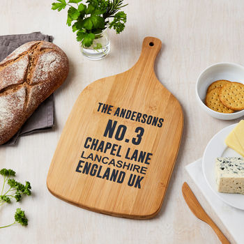 Personalised Address Wooden Chopping Board