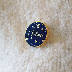 'I Believe' Enamel Pin Badge - christmas eve box ideas