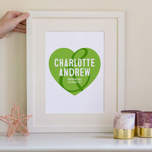 Personalised Romantic Heart Print - new in prints & art