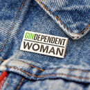 'Gindependent Woman' Enamel Pin Badge