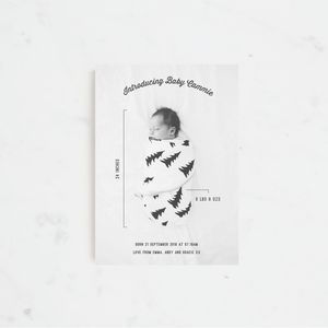 Baby Camp Birth Announcement And Thank You Cards