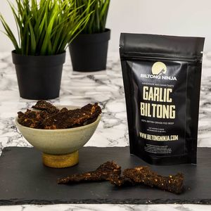 Biltong Garlic Flavour Handcrafted Snap Sticks 150g - new in food & drink
