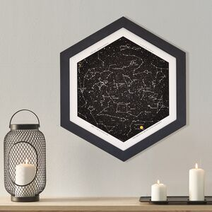 Personalised Star Map With Hexagon Frame