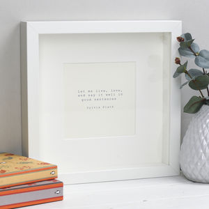 Sylvia Plath Literary Quotation Print