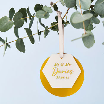 Personalised Mr And Mrs Layered Decoration