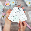 Baby Shower Baby Predictions And Advice Cards