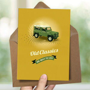 Land Rover Birthday Card - birthday cards