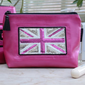 Customised Pink Cosmetic Pouch - make-up & wash bags
