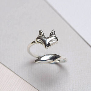 Sterling Silver Fox Wrap Ring - rings