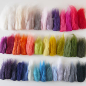 Colour Swatch Of Merino Wool