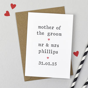 Personalised Parents Of The Bride Or Groom Card - shop by category