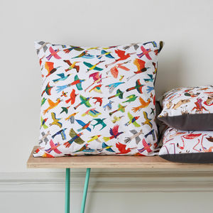 Birds Cushion - patterned cushions