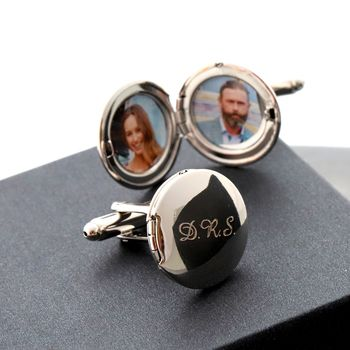Personalised Photo Locket Cufflinks