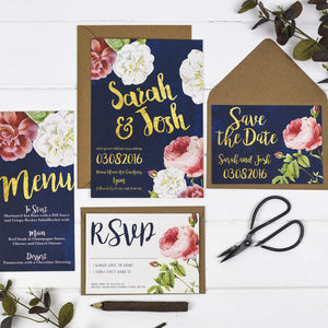English Garden Wedding Invitation Set