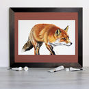 'On The Hunt' Red Fox Signed Mounted Giclée Print