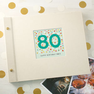 Personalised 80th Birthday Photo Album