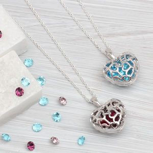 Personalised Sterling Silver Birthstone Locket Necklace - what's new