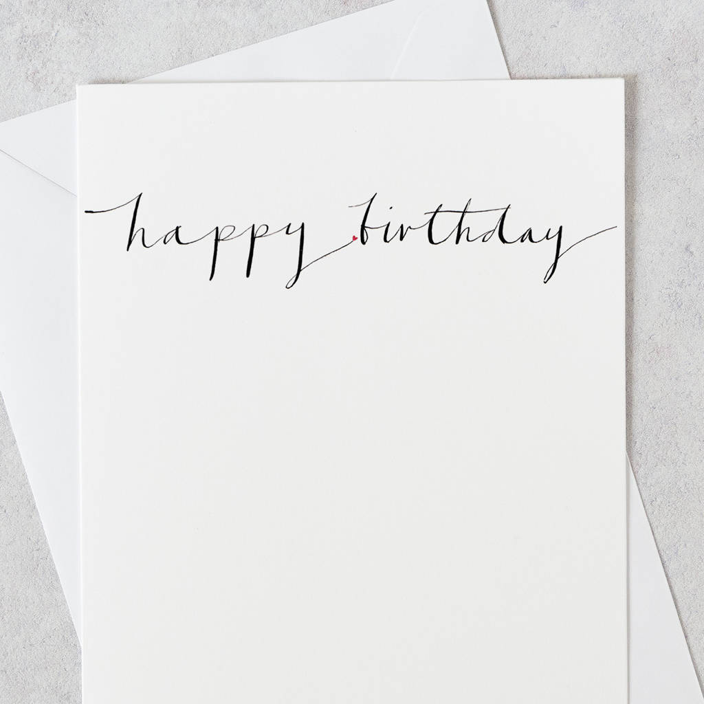 Calligraphy Birthday Card Happy