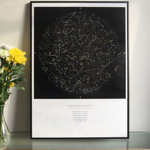 Personalised Map Of The Stars, Medium Size Print - gifts for him