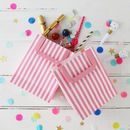 Stripy Pink And White Party Bags With Handle