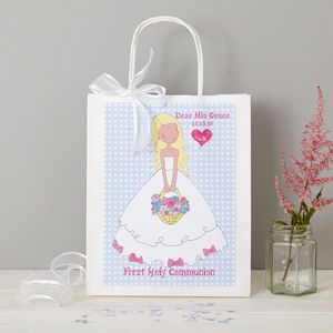 Personalised First Communion Gift Bag - gift bags & boxes