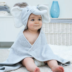 Personalised Humphrey Elephant Baby Towel - bathroom
