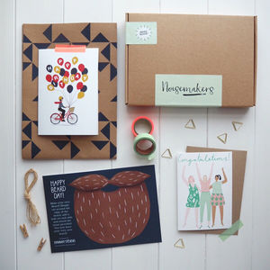 Hipster Birthday Stationery Box - birthday cards
